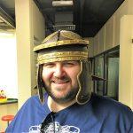 George's favourite helmet at the Roman Museum, Canterbury
