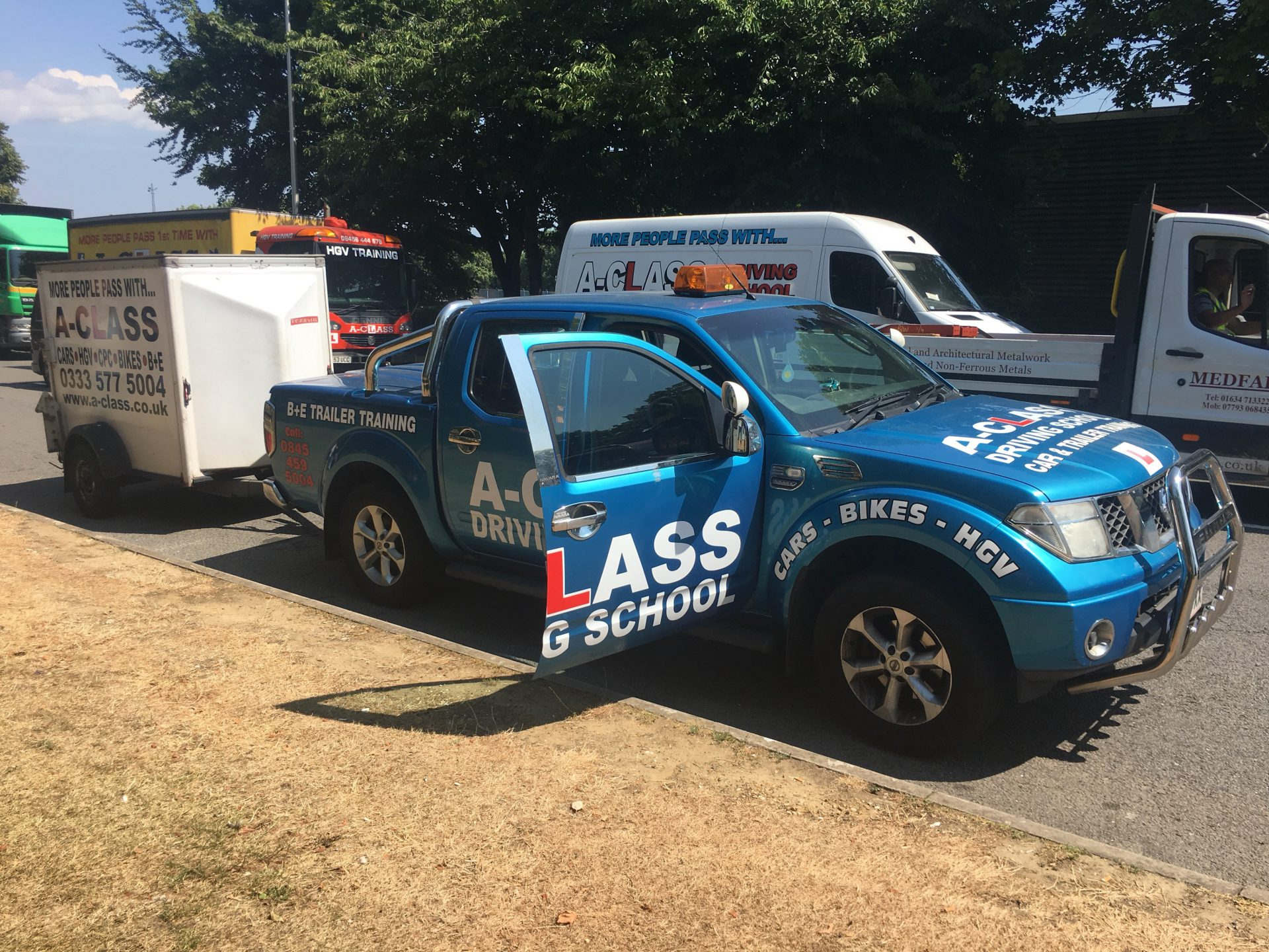 Towing test B+E – what to expect and how I did it