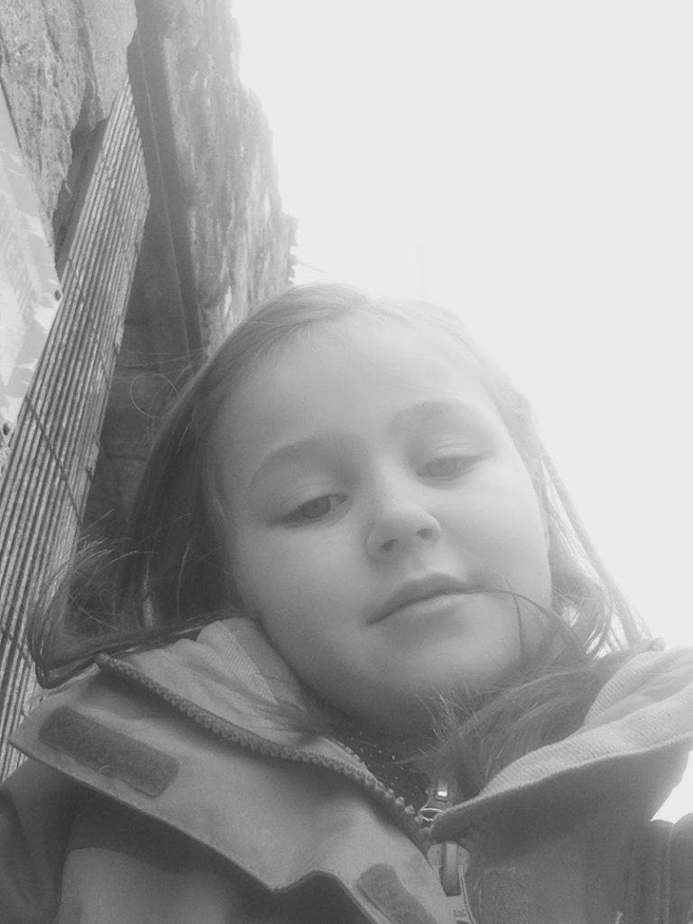 Me at Oradour sur Glane photo by Olivia
