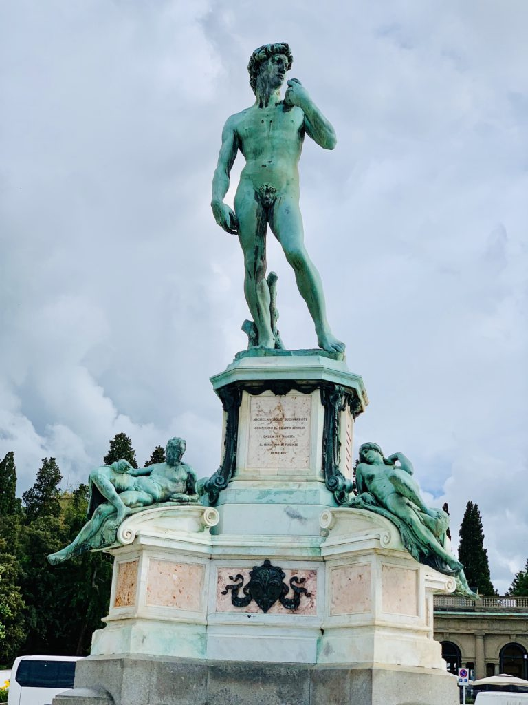 Statue of Michelangelo Florence