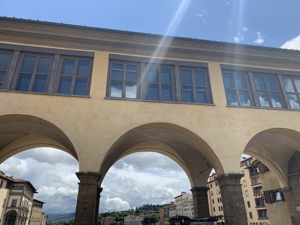 Ponte Vecchio bridge secret passage way in Florence