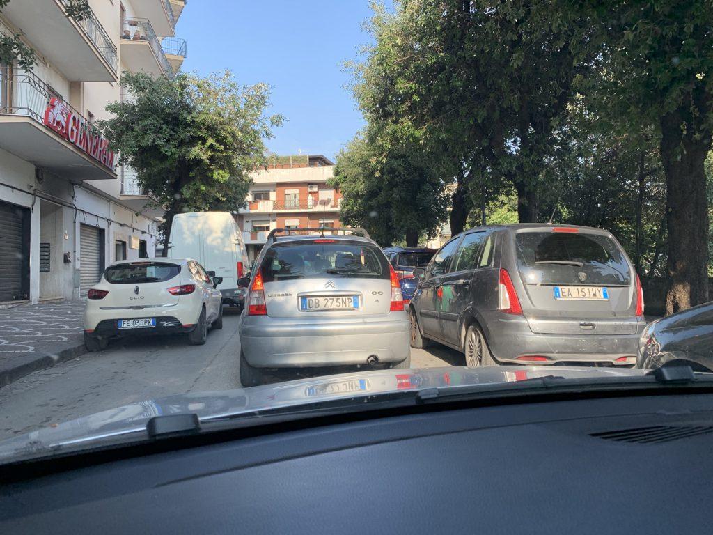 A traffic jam in Pompeii