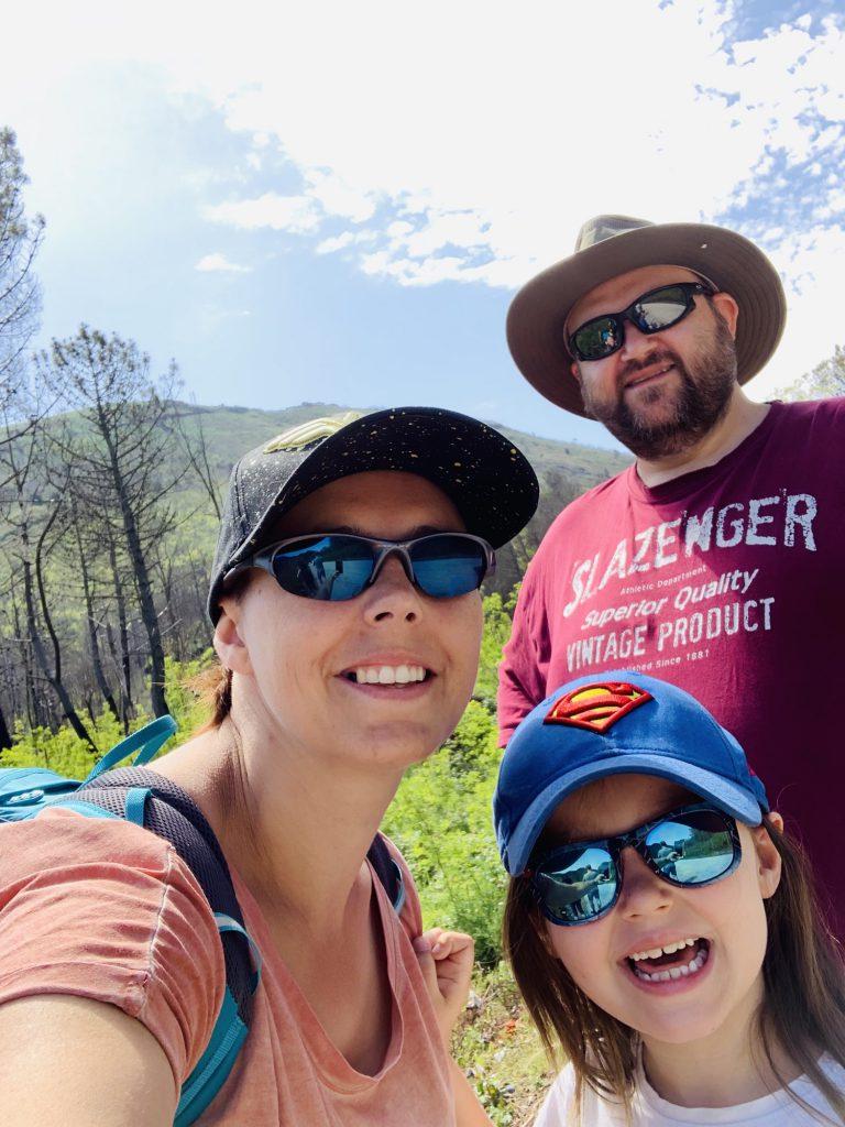 Us about to climb mount Vesuvius