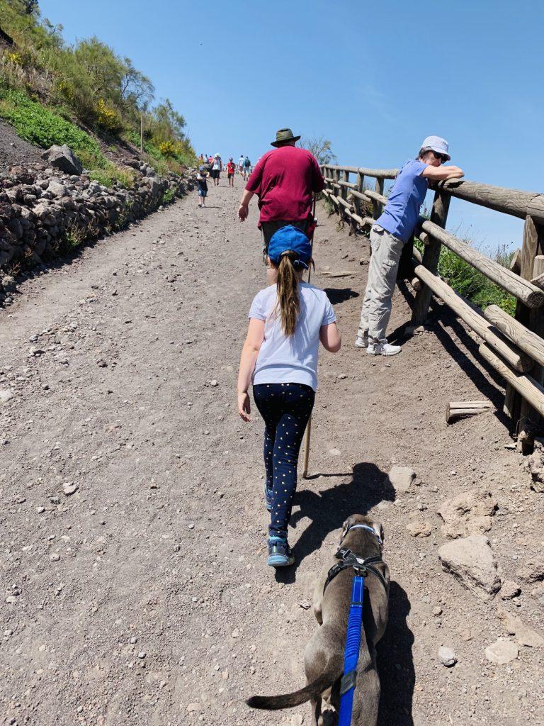 Climbing mount Vesuvius