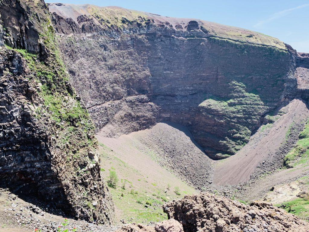 crater of Mount Vesuvius
