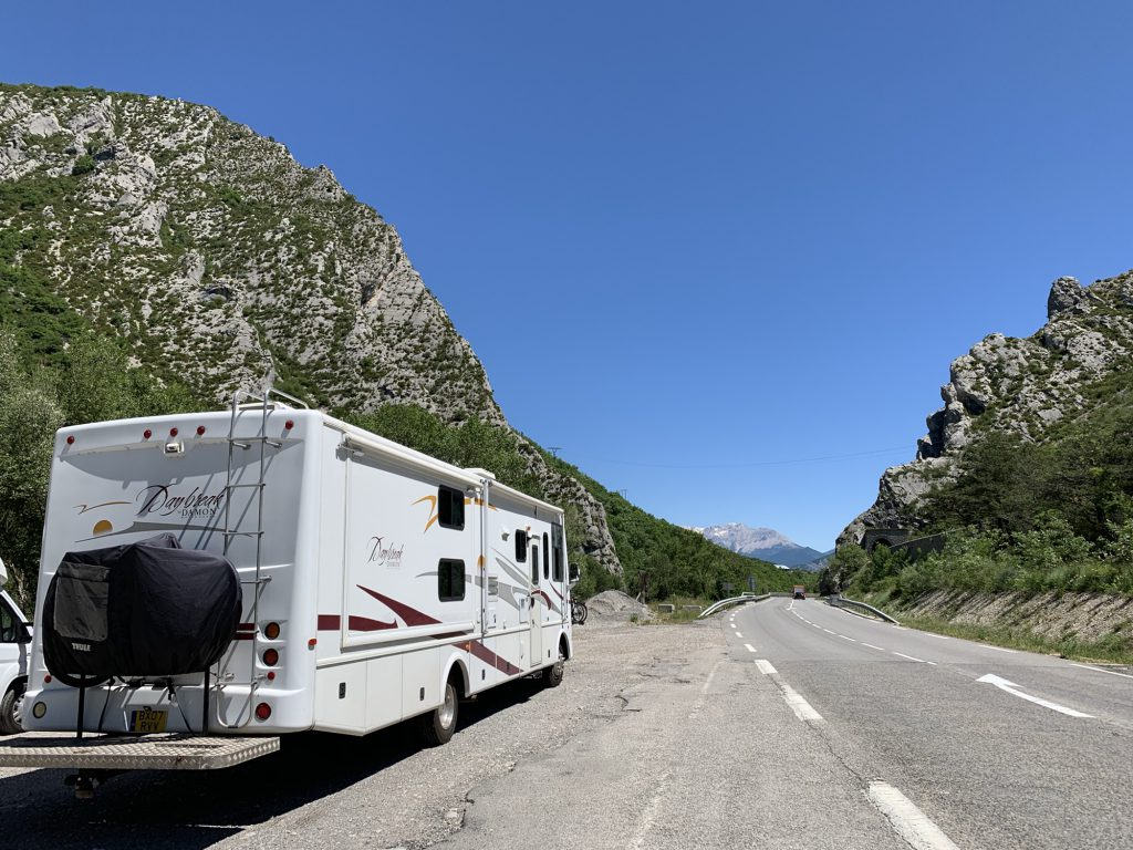 RV In the mountains in Lally