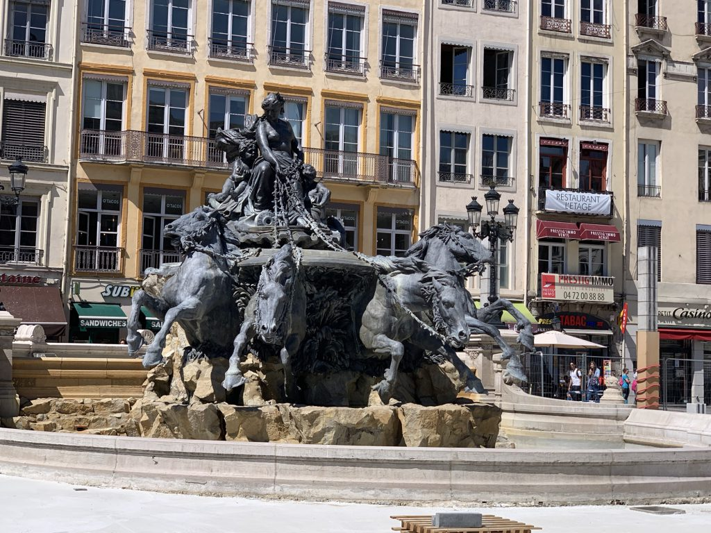Fountain in lyon